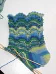 Lacy Scallops Socks just around the heel