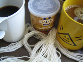 coffee, curry and yarn