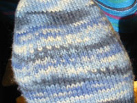 Blue anklet sock
